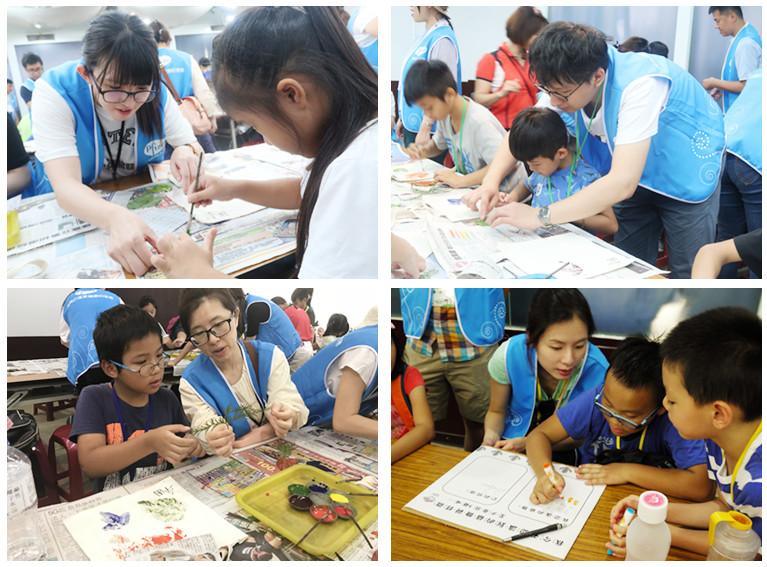 輝瑞大藥廠陪伴世界和平會服務學童的互動寫真